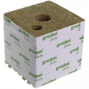 Κύβος Πετροβάμβακα Grodan 6'' με μικρή & μεγάλη τρύπα (150x150mm)
