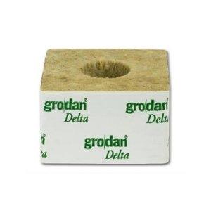 Κύβος Πετροβάμβακα Grodan 4'' με μεγάλη τρύπα (100x100mm)